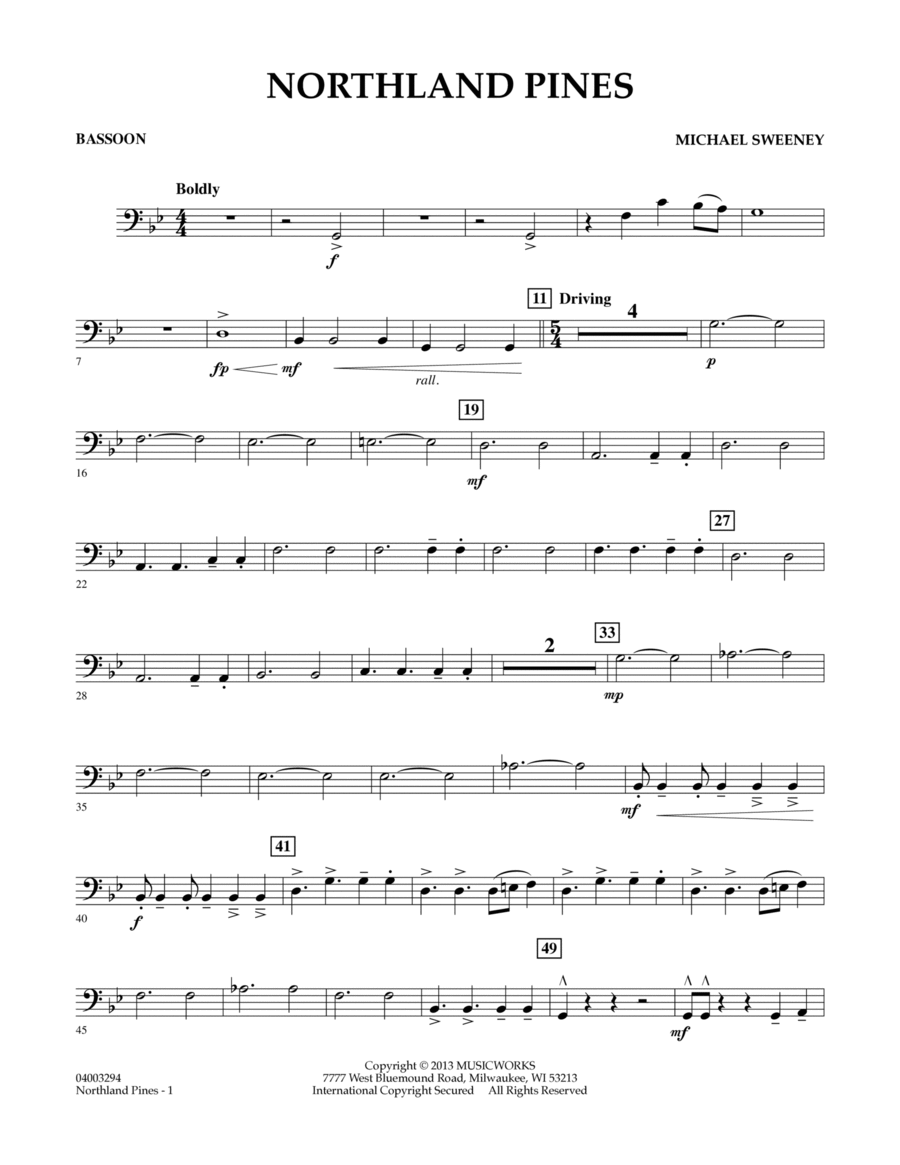 Northland Pines - Bassoon