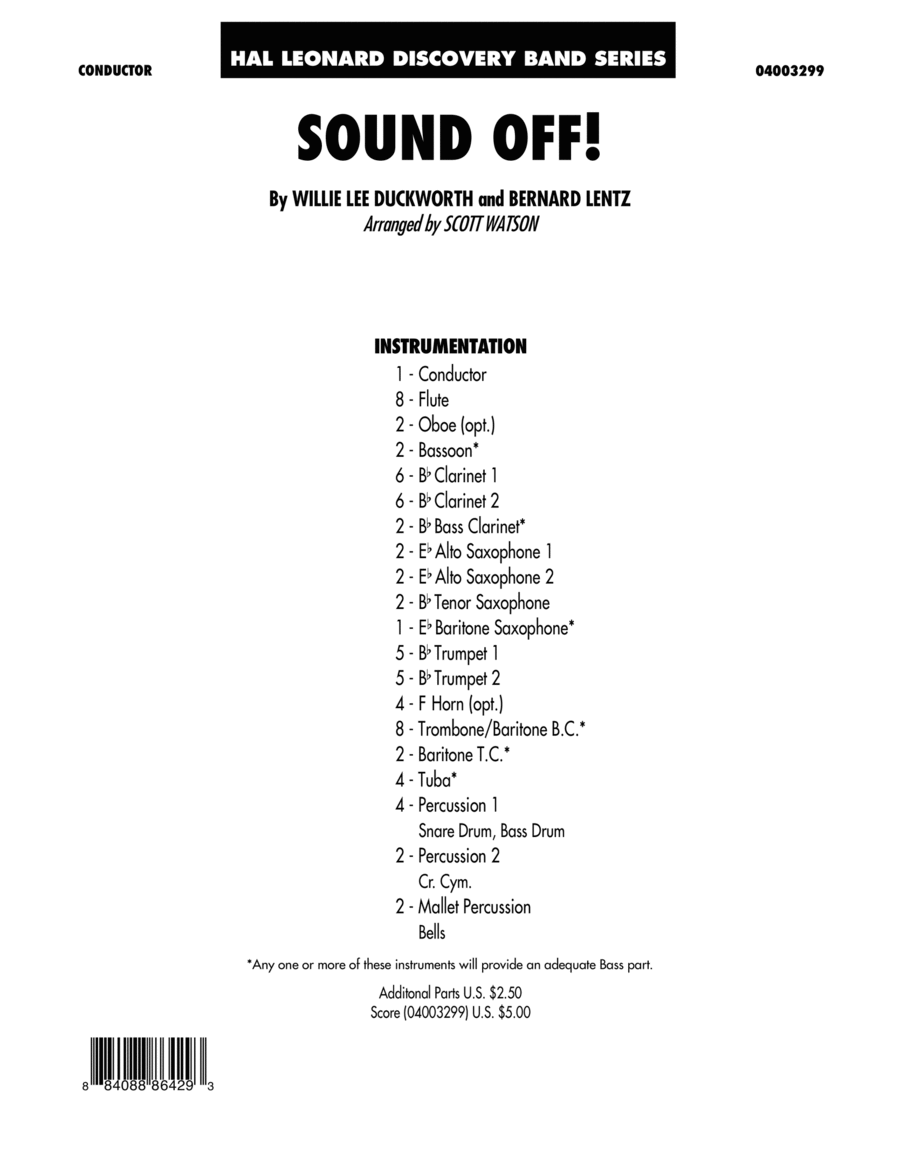 Sound Off - Full Score