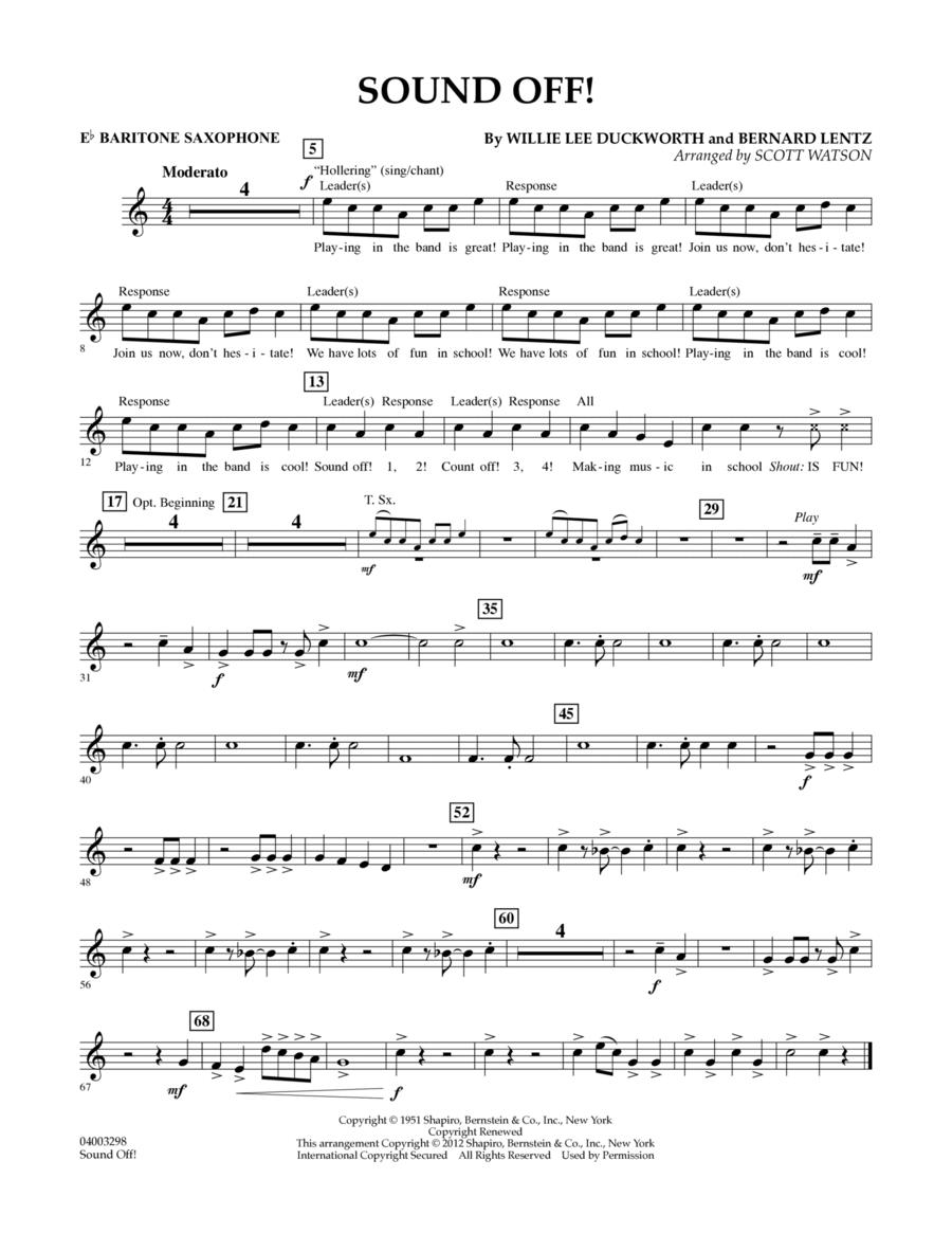 Sound Off - Eb Baritone Saxophone