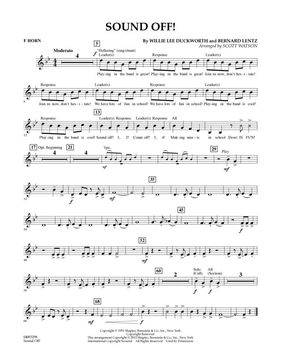 Sound Off - F Horn