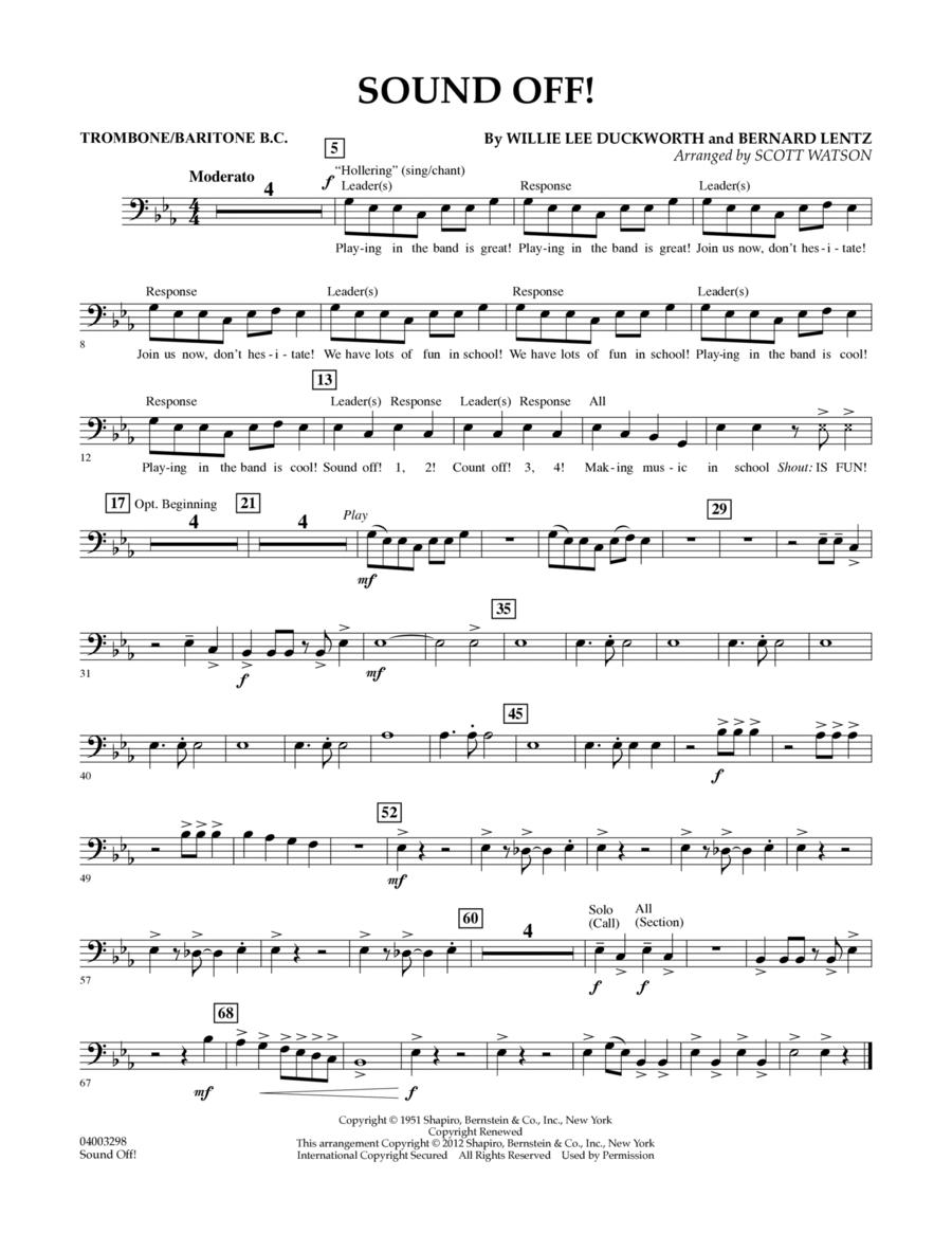Sound Off - Trombone/Baritone B.C.