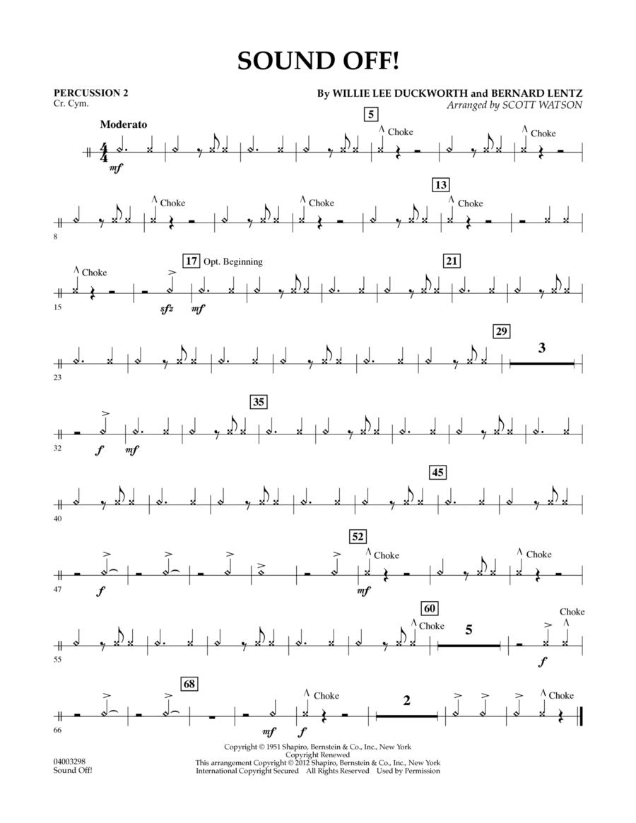 Sound Off - Percussion 2