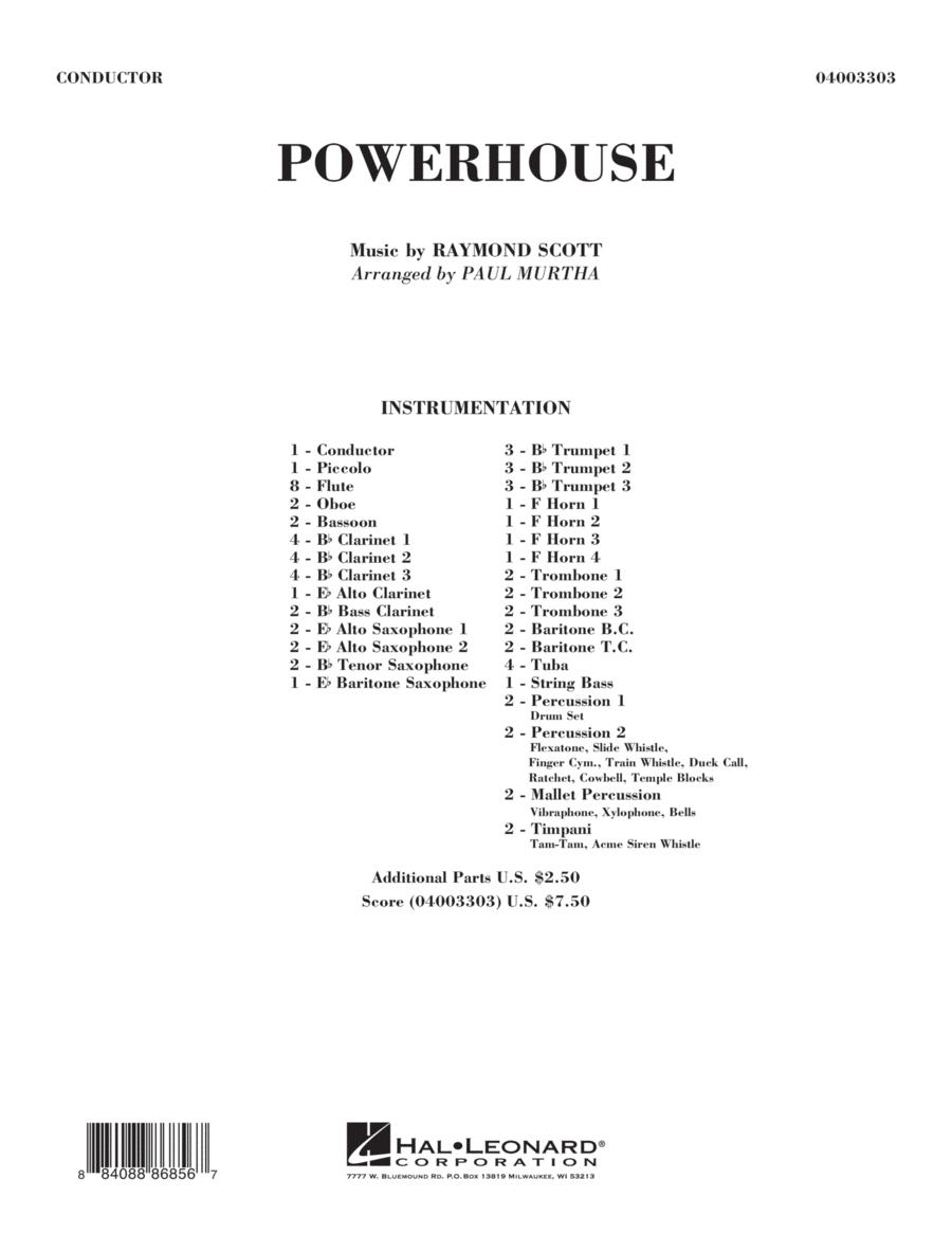 Powerhouse - Conductor Score (Full Score)