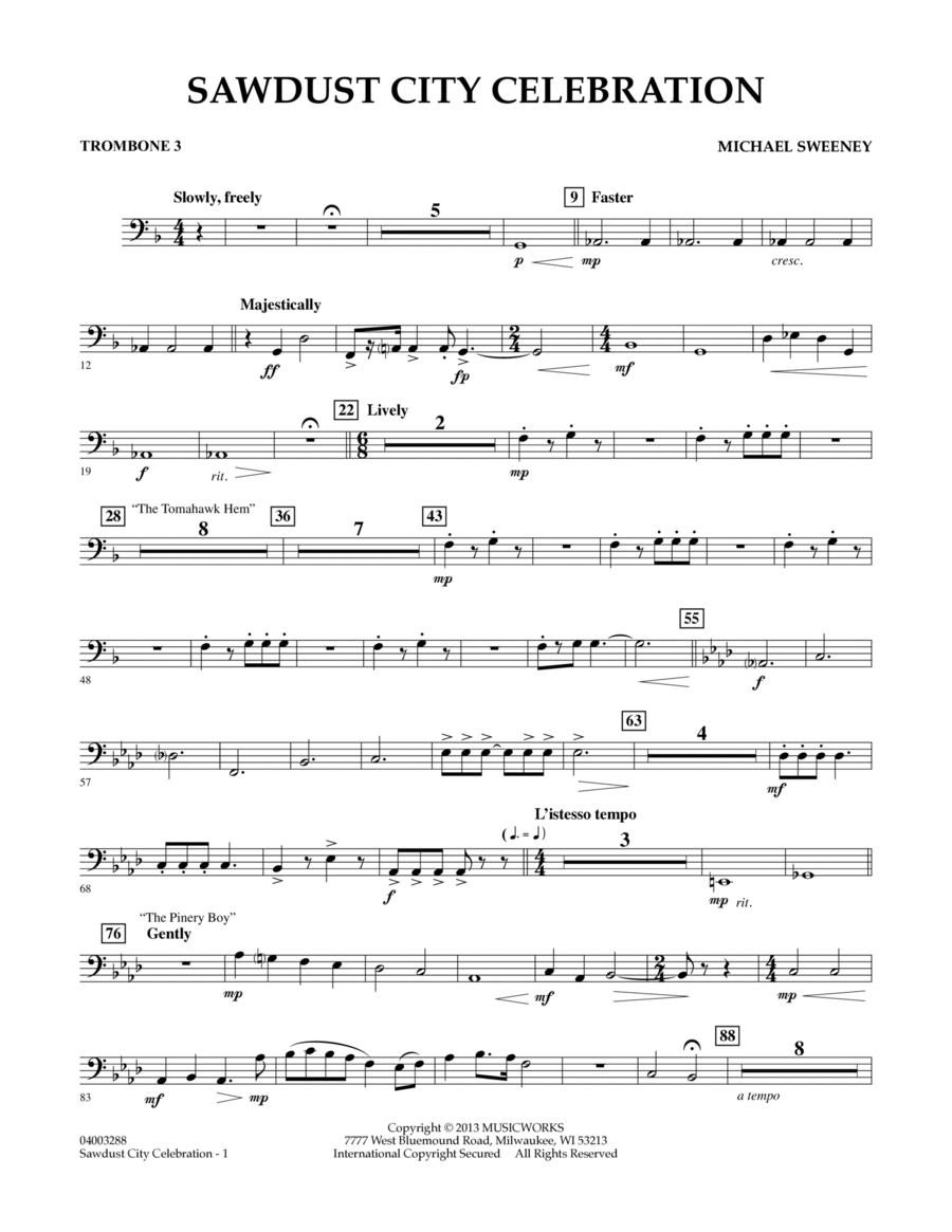 Sawdust City Celebration - Trombone 3
