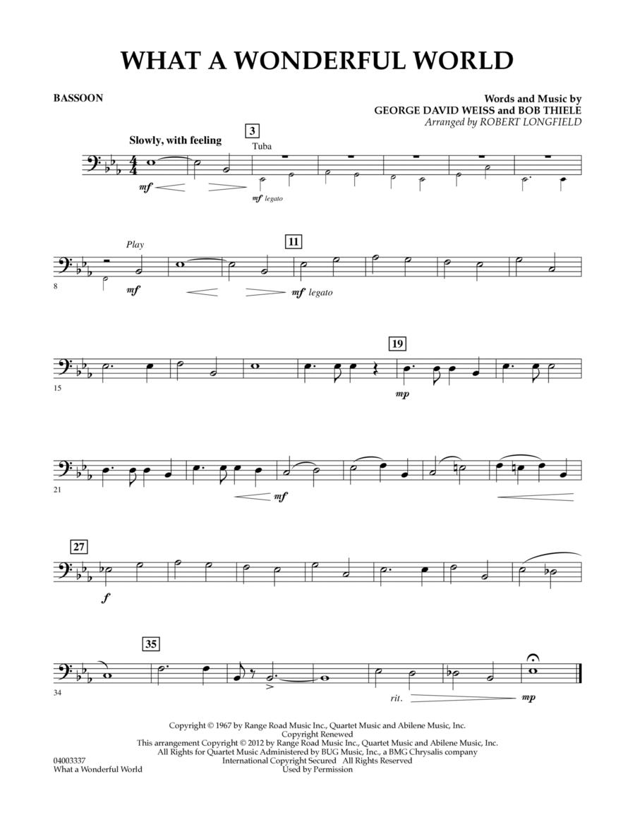 What A Wonderful World - Bassoon