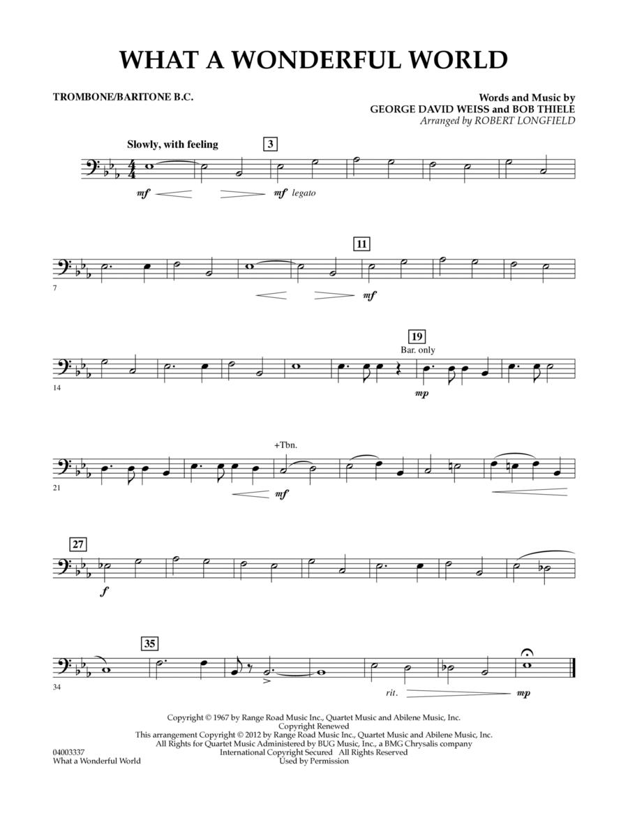 What A Wonderful World - Trombone/Baritone B.C.