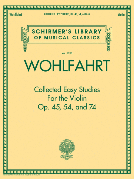 Wohlfahrt - Collected Easy Studies for the Violin