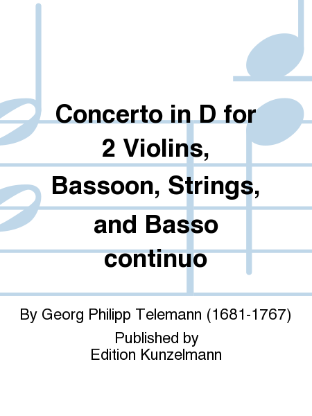 Concerto in D for 2 Violins, Bassoon, Strings, and Basso continuo