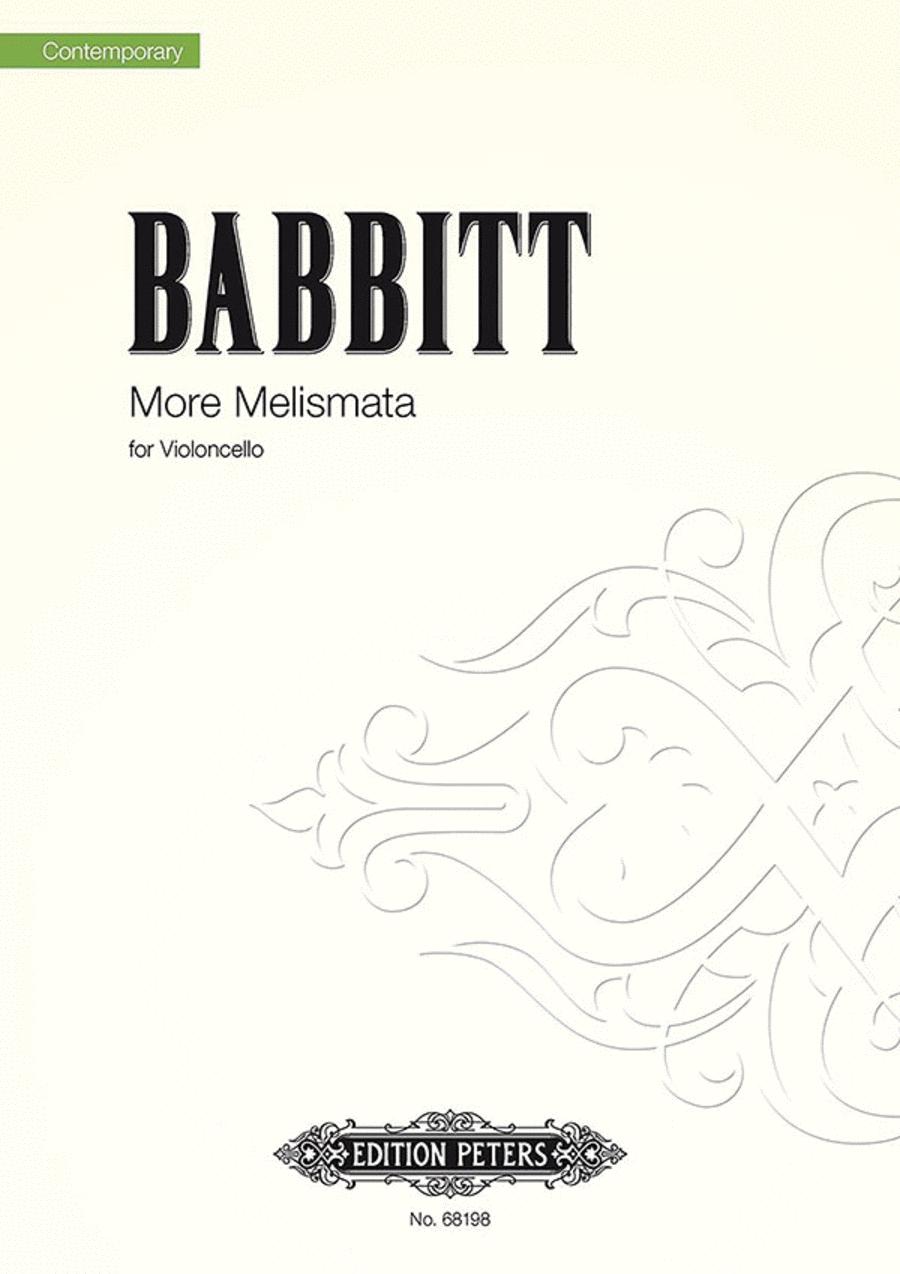 More Melismata - for Violoncello (2006)