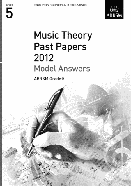 Music Theory Past Papers 2012 Gr5 Model Answers