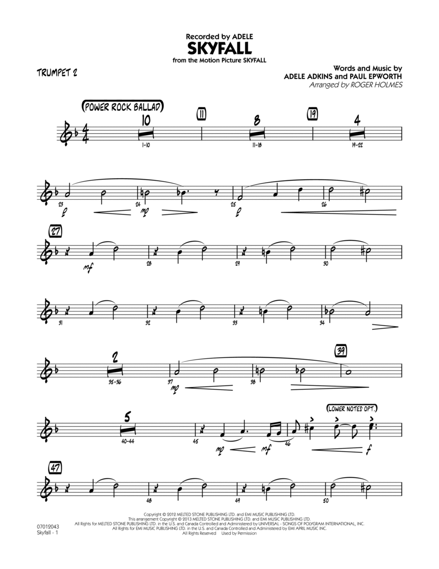 Skyfall - Trumpet 2