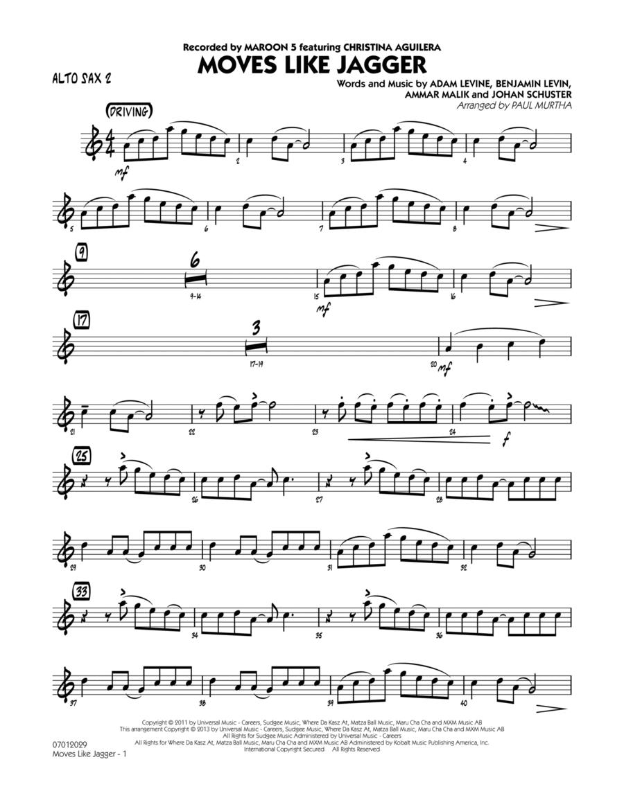 Moves Like Jagger - Alto Sax 2