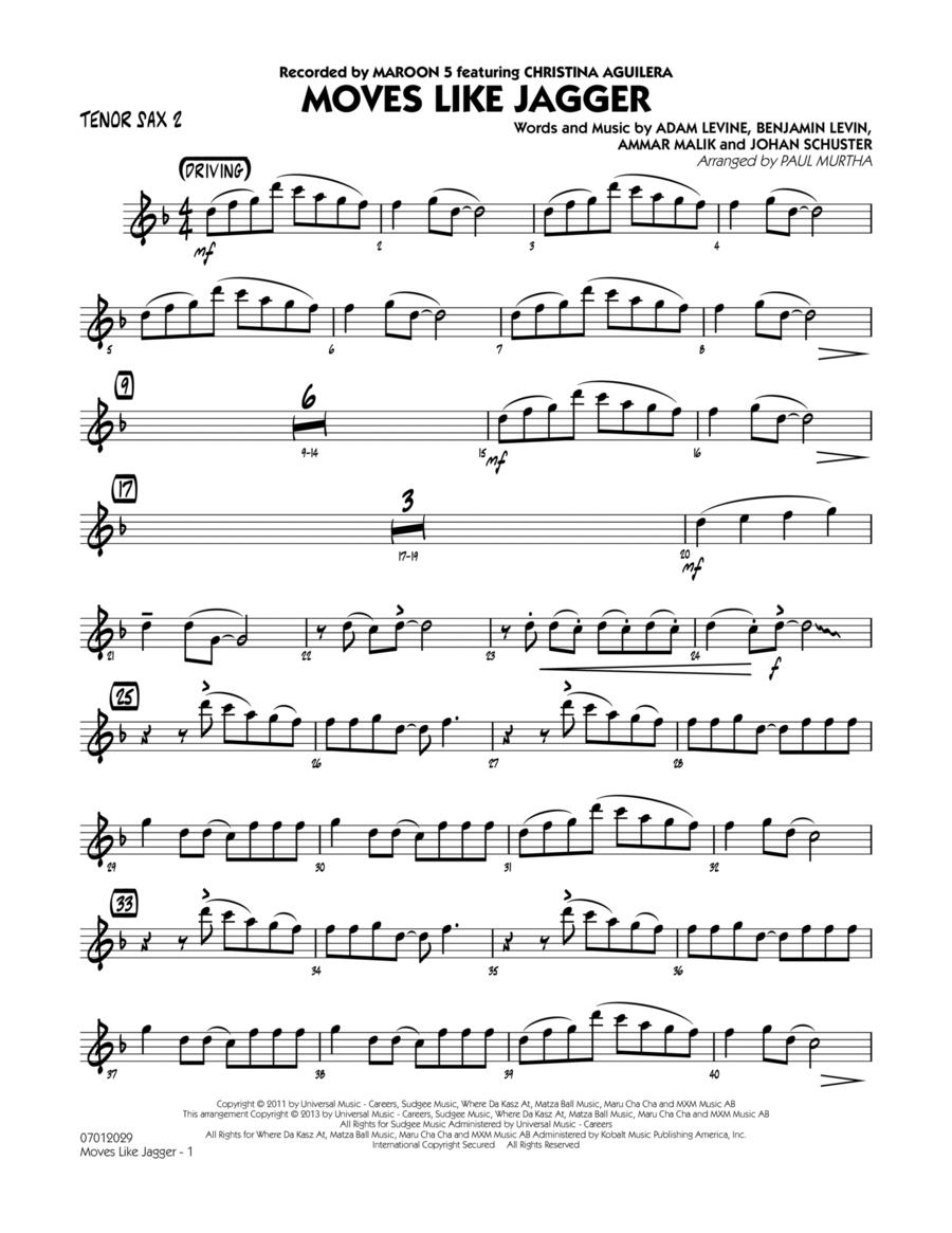 Moves Like Jagger - Tenor Sax 2