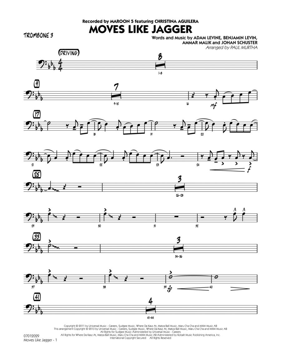 Moves Like Jagger - Trombone 3