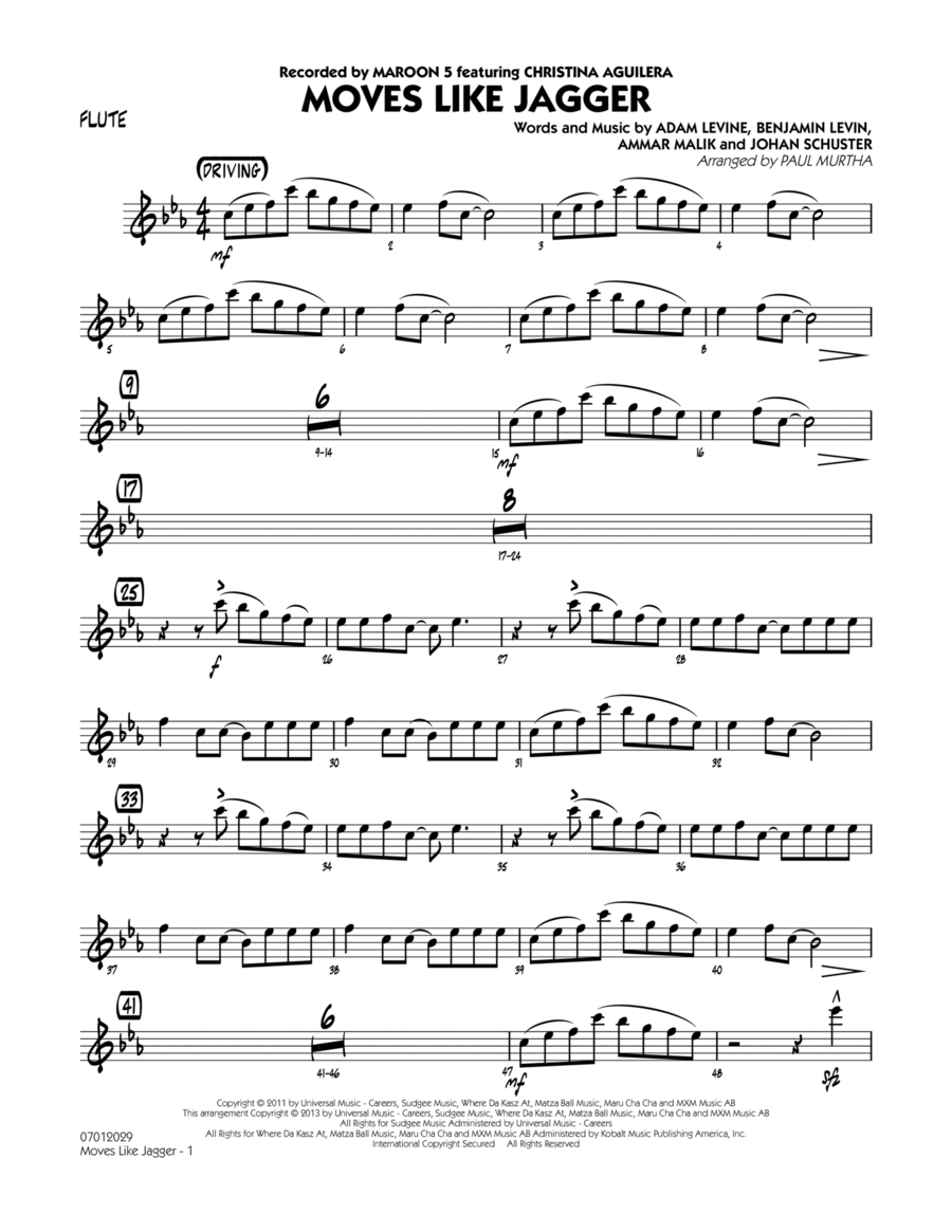 Moves Like Jagger - Flute