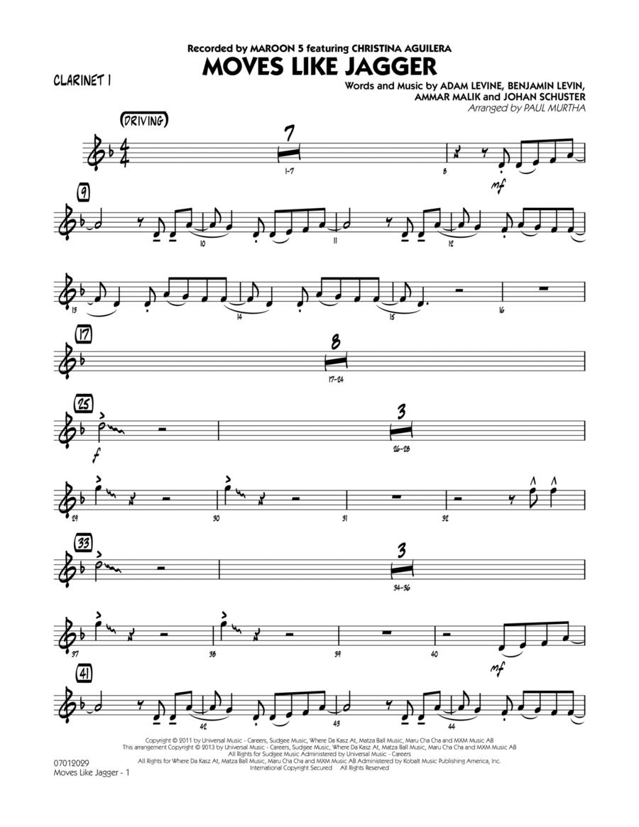 Moves Like Jagger - Clarinet 1
