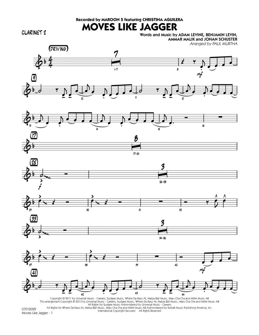 Moves Like Jagger - Clarinet 2