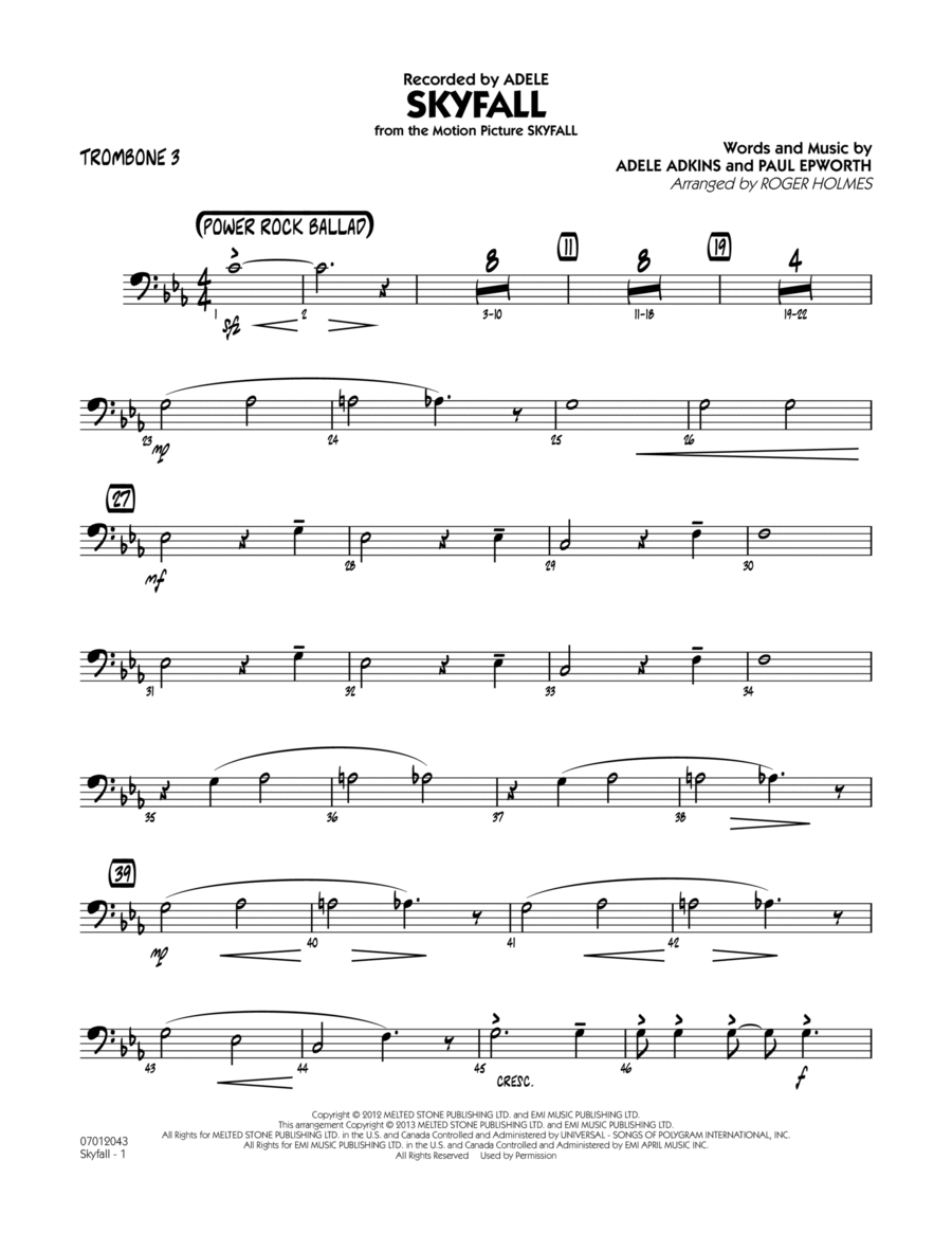 Skyfall - Trombone 3