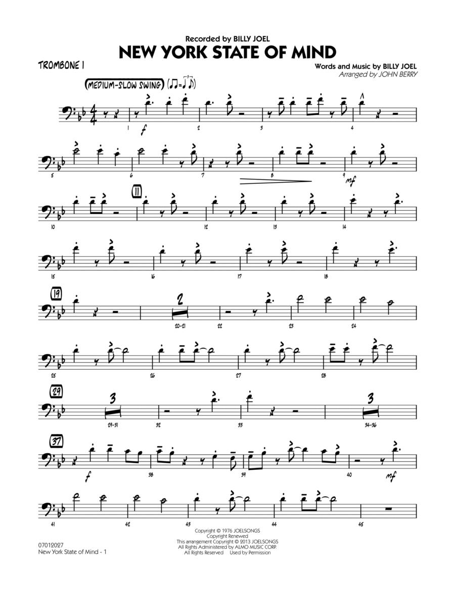 New York State Of Mind - Trombone 1