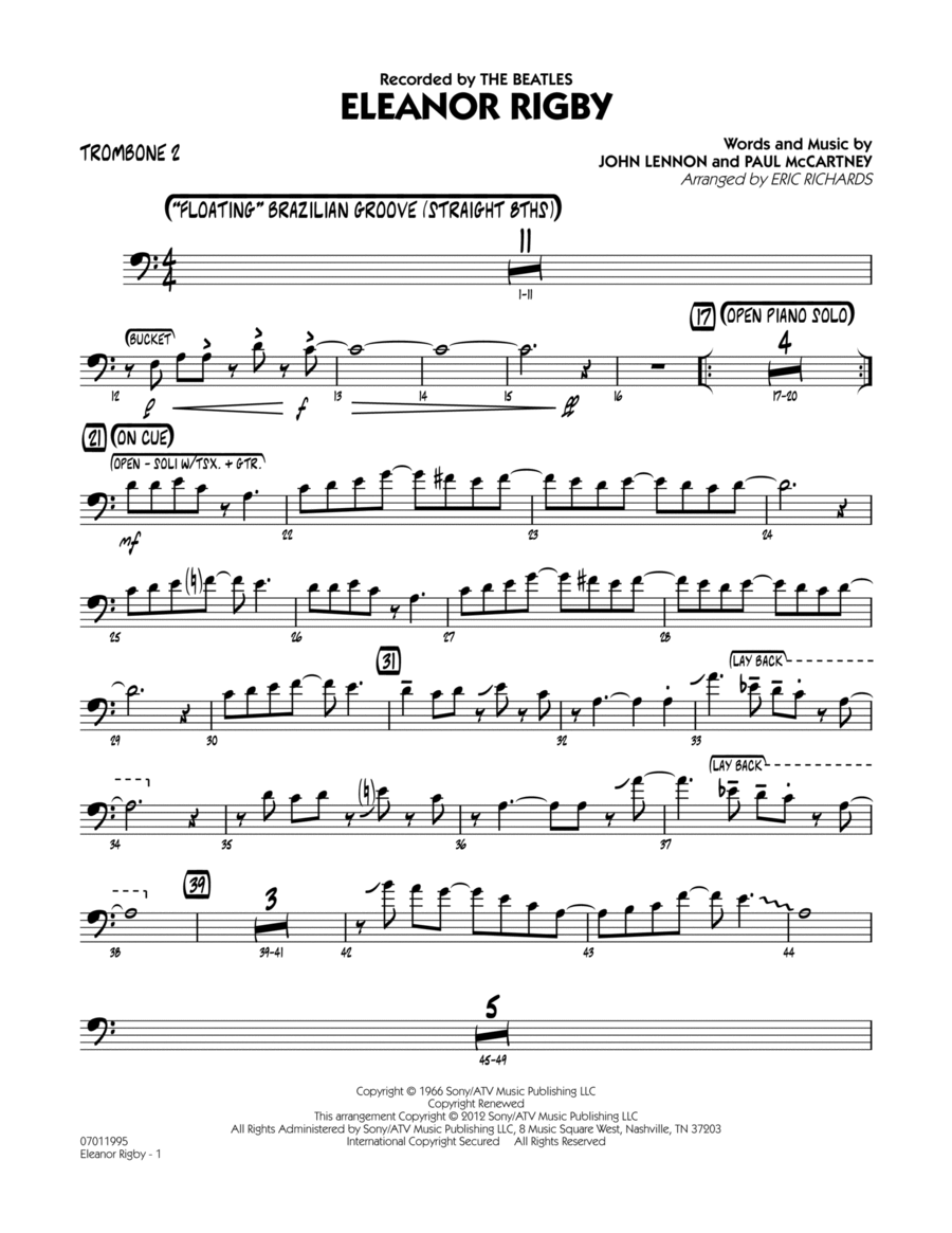 Eleanor Rigby - Trombone 2