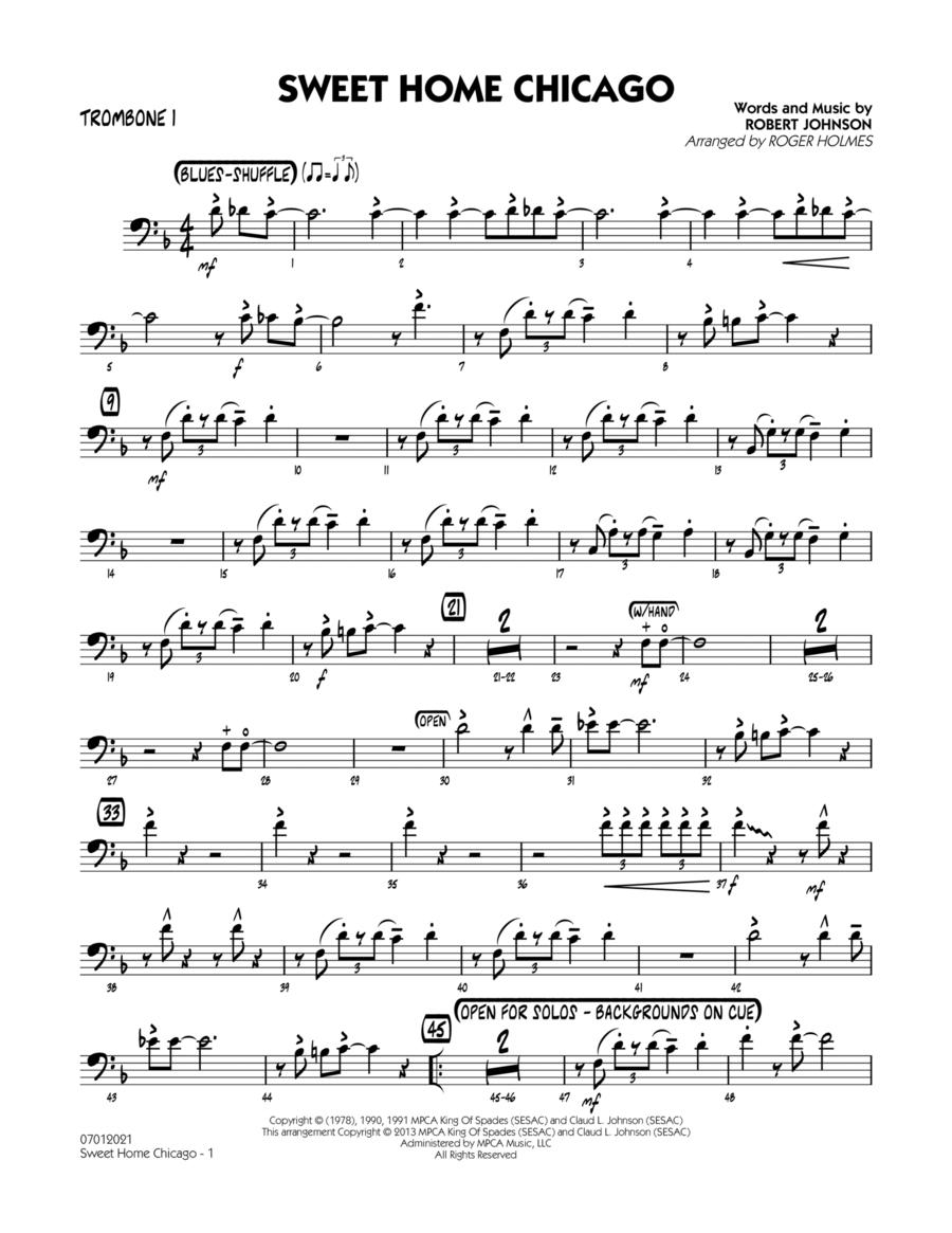 Sweet Home Chicago - Trombone 1
