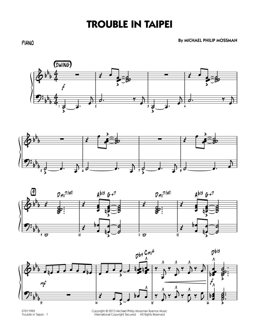 Trouble In Taipei - Piano