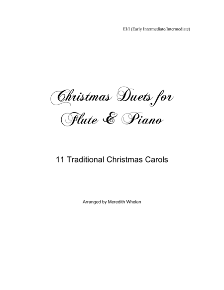 Christmas Duets for Flute & Piano:  11 Traditional Carols