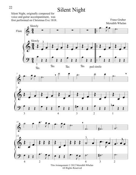 Christmas Duets for Flute & Piano:  Silent Night
