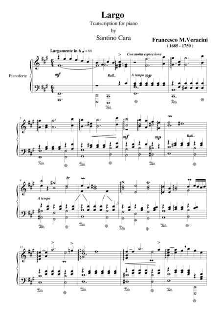 Largo_Veracini_Transcription for piano of Santino Cara