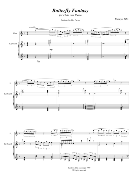 Butterfly Fantasy for flute and piano