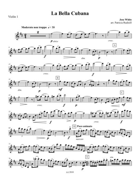 La Bella Cubana, for string quartet