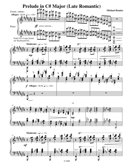 Prelude No.3 in C# Major, from 24 Preludes