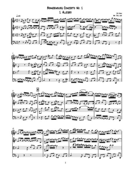 Six Brandenburg Concertos - Score