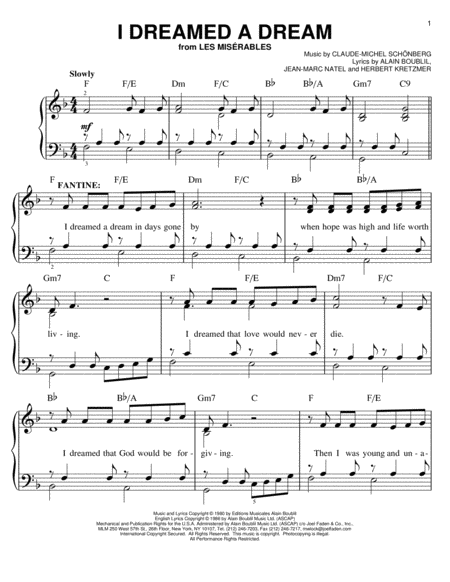 Les Miserables Easy Piano Movie Pack featuring Suddenly