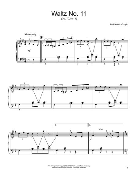 Waltz No. 11, Op. 70, No. 1