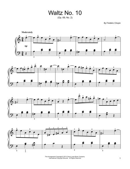 Waltz No. 10, Op. 69, No. 2