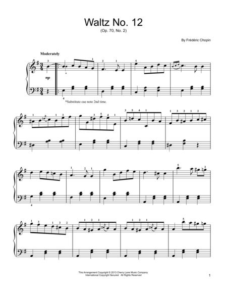 Waltz No. 12, Op. 70, No. 2