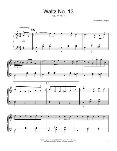 Waltz No. 13, Op. 70, No. 3