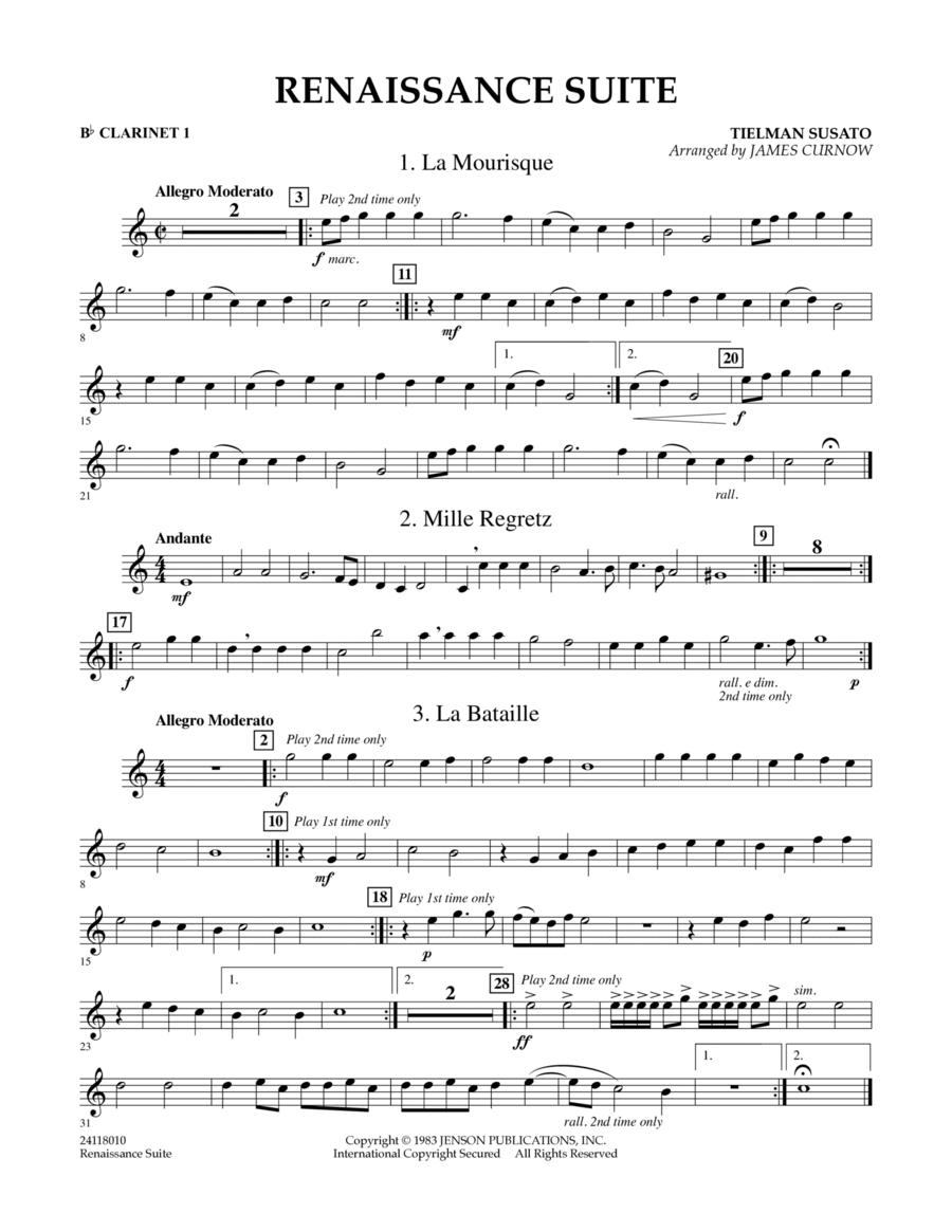 Renaissance Suite - Bb Clarinet 1