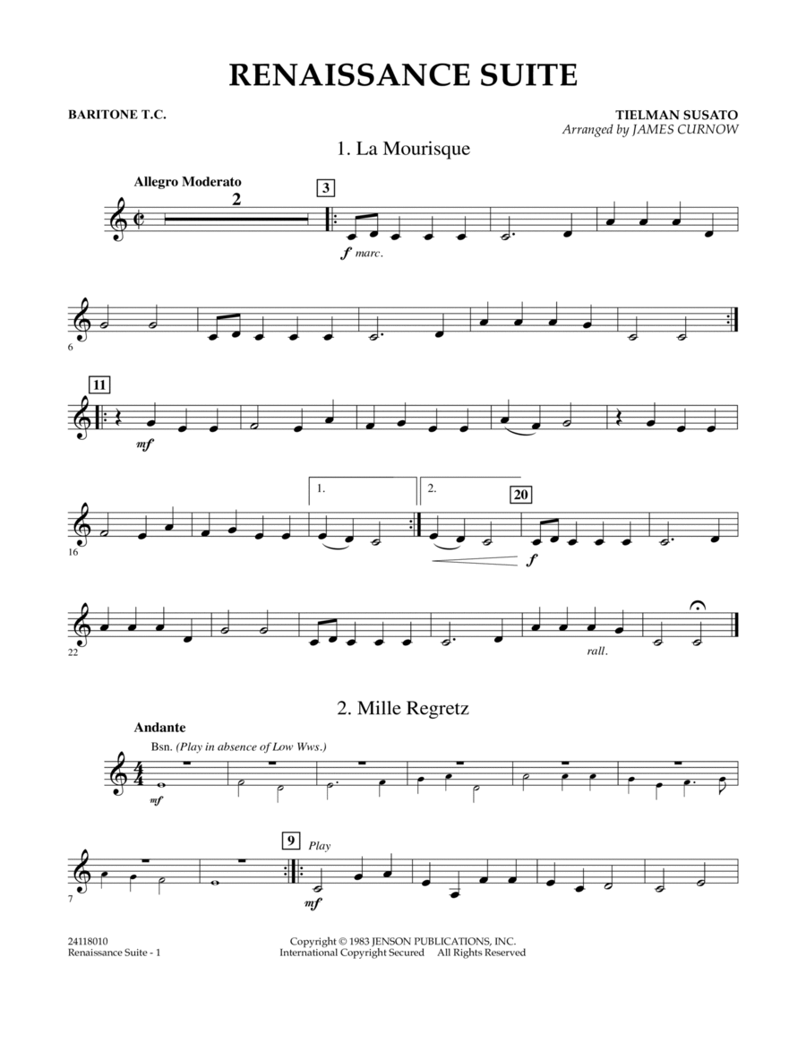 Renaissance Suite - Baritone T.C.