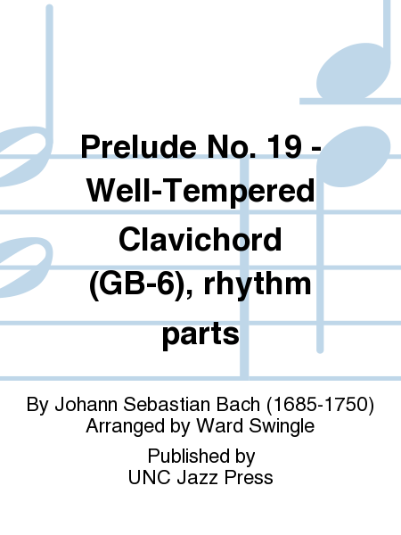 Prelude No. 19 - Well-Tempered Clavichord (GB-6), rhythm parts