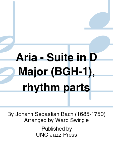 Aria - Suite in D Major (BGH-1), rhythm parts