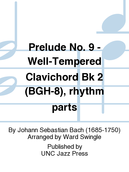 Prelude No. 9 - Well-Tempered Clavichord Bk 2 (BGH-8), rhythm parts