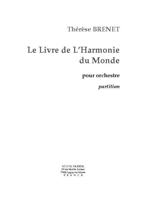 Le Livre de L'Harmonie du Monde