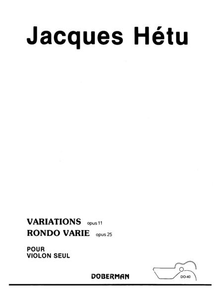 Rondo op. 25 et Variations op. 11