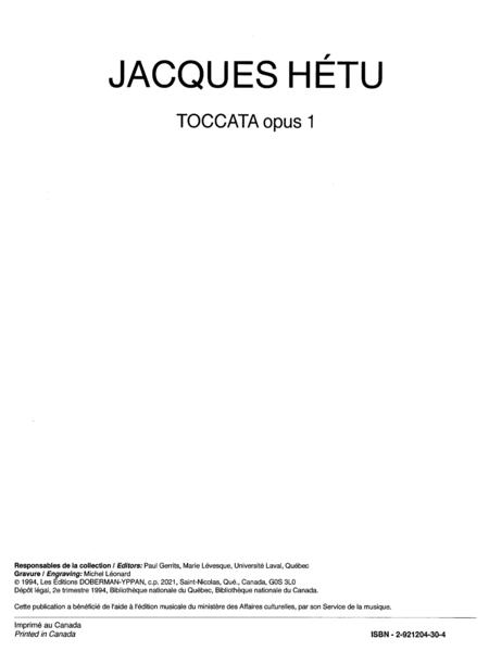 Toccata op. 1