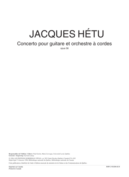 Concerto for guitar op. 56 (score)
