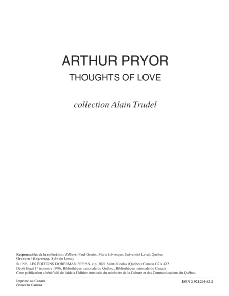 Thoughts of Love (score)