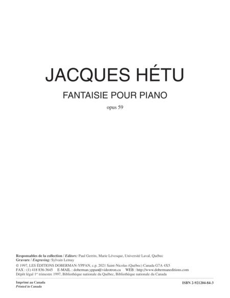 Fantaisie pour piano op. 59
