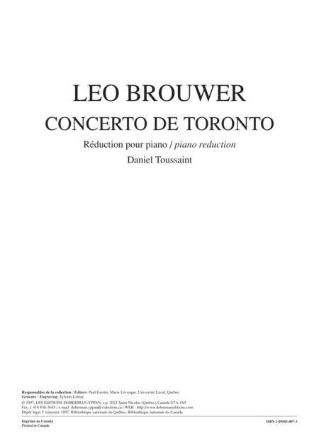 Concerto de Toronto (piano reduction)